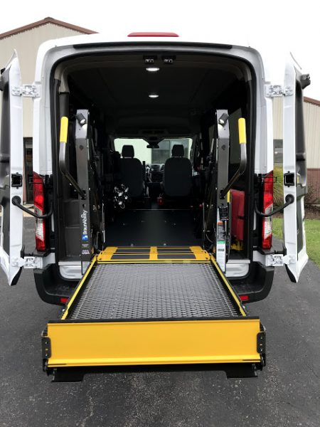 Ford Transit 250 >> 2018 Ford Transit 250 Rear Wheelchair Lift - American Bus and Accessories
