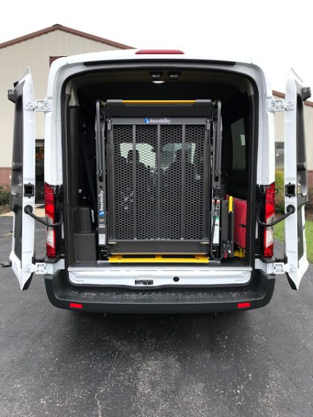 2018 Ford Transit 250 Rear Wheelchair Lift American Bus