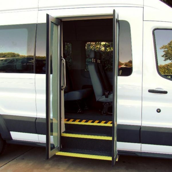 Ford Transit 12 Passenger Van >> Ford Transit Van with Bus Door - American Bus and Accessories