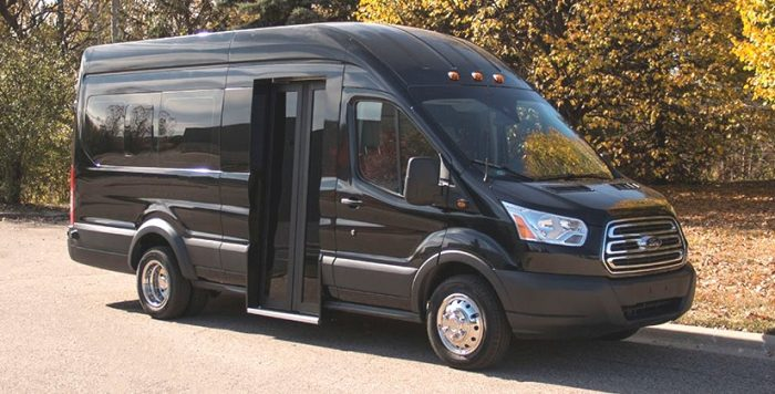 Ford Transit Van with Bus Door - American Bus and Accessories