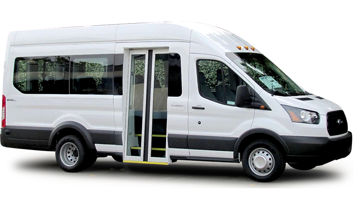 Ford Transit Van With Bus Door American Bus And Accessories