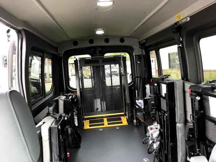 Ford 12 Passenger Van >> 2019 Wheelchair Accessible (AV) Ford Transit Van for Sale 250 Rear Wheelchair Lift - American ...